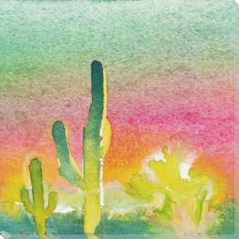 Cactus Slice II Wrapped Canvas Giclee Print Wall Art