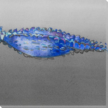 Blue Gator 2 Wrapped Canvas Giclee Print Wall Art