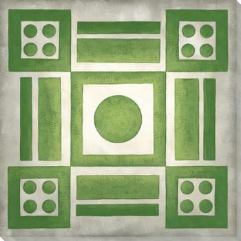 Classical Garden Plan IV Wrapped Canvas Giclee Art Print Wall Art