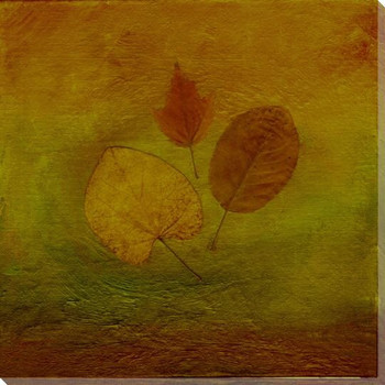 Autumn Leaves Three Wrapped Canvas Giclee Print Wall Art