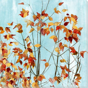 Leaves Turning Left Wrapped Canvas Giclee Print Wall Art