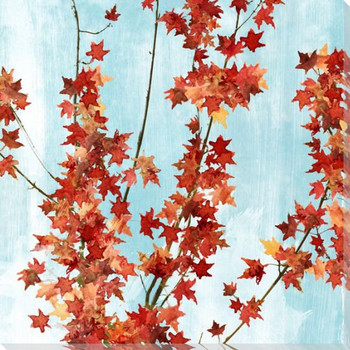 Leaves Turning Right Wrapped Canvas Giclee Print Wall Art