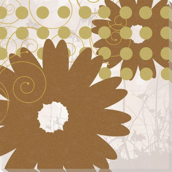 Adler's Garden-Autumn Dots Wrapped Canvas Giclee Print Wall Art