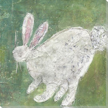 White Rabbit Wrapped Canvas Giclee Print Wall Art