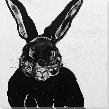 Rabbit Charcoal 5 Wrapped Canvas Giclee Print Wall Art