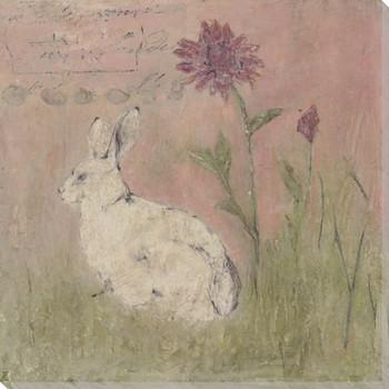 Farmhouse Bunny #6 Wrapped Canvas Giclee Print Wall Art