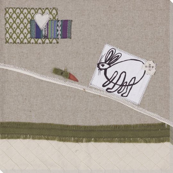 Farmhouse Bunny #10 Wrapped Canvas Giclee Print Wall Art