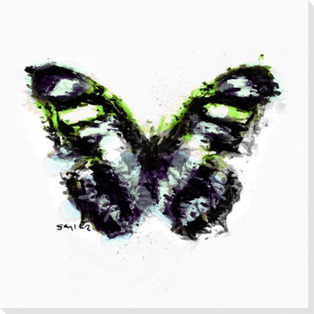 Inked Butterfly 3 Wrapped Canvas Giclee Print Wall Art