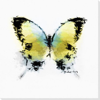 Inked Butterfly 6 Wrapped Canvas Giclee Print Wall Art