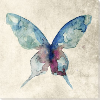 Colorful Butterfly 2 Wrapped Canvas Giclee Print Wall Art