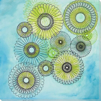 Spiro Bloom Wrapped Canvas Giclee Print Wall Art
