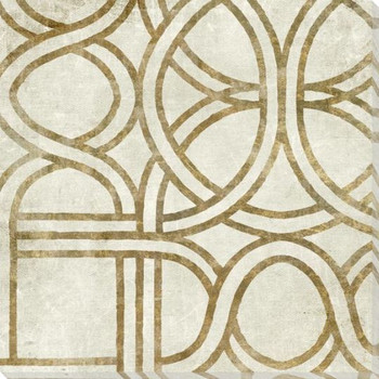Gold Pattern Grouping B Wrapped Canvas Giclee Art Print Wall Art