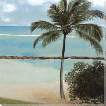 Coastal Retreat II Wrapped Canvas Giclee Print Wall Art