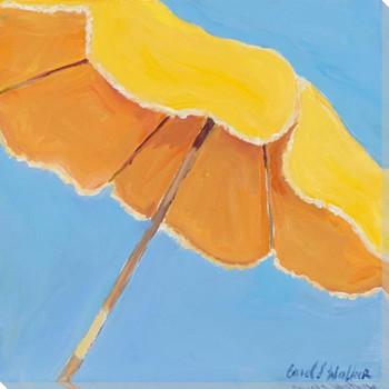 Lemon Umbrella Wrapped Canvas Giclee Art Print Wall Art