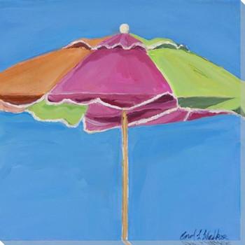 Sherbet Umbrella Wrapped Canvas Giclee Art Print Wall Art