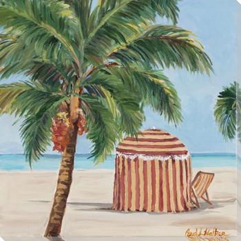 Sea Breeze Cabana Wrapped Canvas Giclee Art Print Wall Art