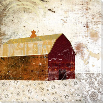 Patterned Barn 1 Wrapped Canvas Giclee Print Wall Art