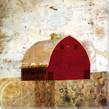 Patterned Barn 3 Wrapped Canvas Giclee Print Wall Art