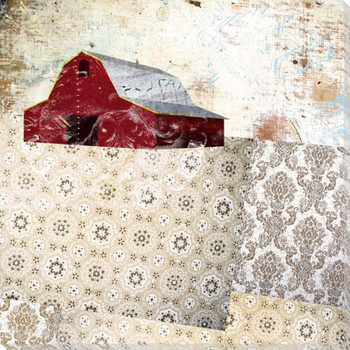 Patterned Barn 4 Wrapped Canvas Giclee Print Wall Art