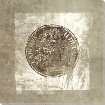 Charles II Petition Crown Coin Front Wrapped Canvas Giclee Print