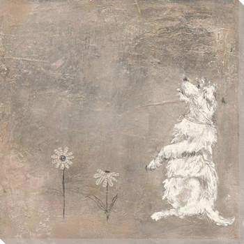 Daisy Dog Wrapped Canvas Giclee Print Wall Art