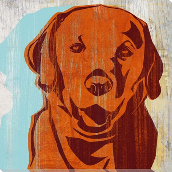 Pick the Lab Dog Wrapped Canvas Giclee Print Wall Art