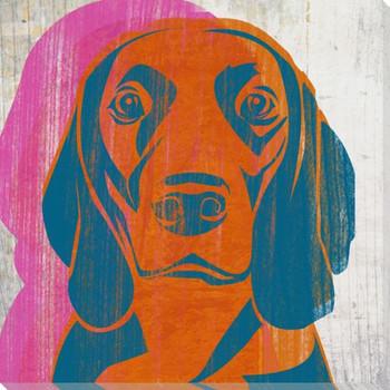 Pick the Beagle Dog Wrapped Canvas Giclee Print Wall Art