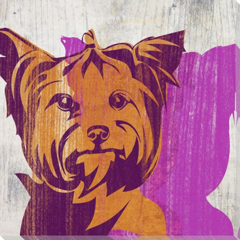 Pick the Yorkie Dog Wrapped Canvas Giclee Print Wall Art