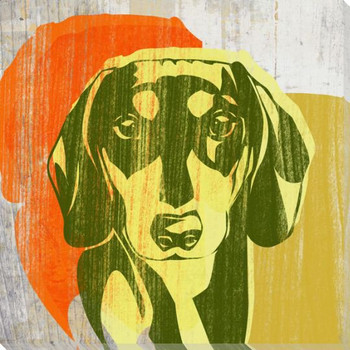 Pick the Dachshund Dog Wrapped Canvas Giclee Print Wall Art