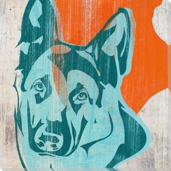 Pick the German Shepherd Dog Wrapped Canvas Giclee Print Wall Art