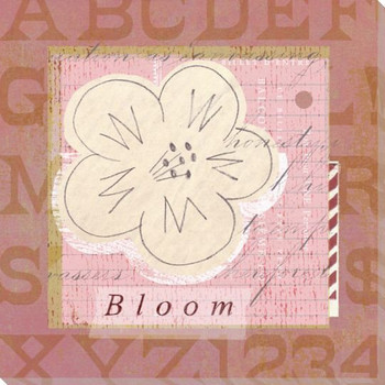 Children's Garden Bloom Wrapped Canvas Giclee Print Wall Art