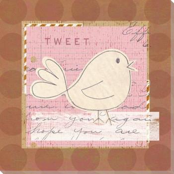 Children's Garden Tweet Wrapped Canvas Giclee Print Wall Art