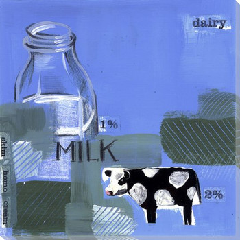 Dairy Cow Wrapped Canvas Giclee Print Wall Art