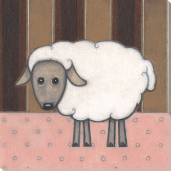 Farm Chic Sheep II Wrapped Canvas Giclee Print Wall Art