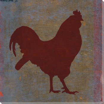 Qwerties Rooster Bird Wrapped Canvas Giclee Print Wall Art