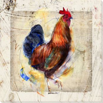 Chicken Scratch Bird One Wrapped Canvas Giclee Print Wall Art