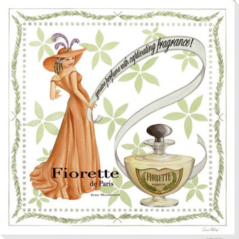 Fiorette Perfume Wrapped Canvas Giclee Print Wall Art