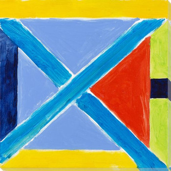 Abstract Flags 3 Wrapped Canvas Giclee Print Wall Art
