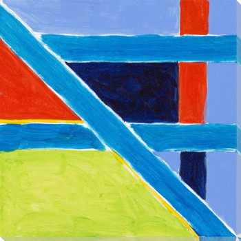 Abstract Flags 6 Wrapped Canvas Giclee Print Wall Art