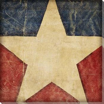 Stars and Bars 1 USA Flag Wrapped Canvas Giclee Print Wall Art