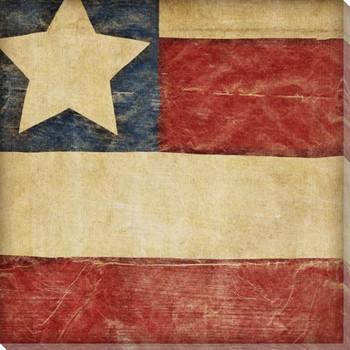 Stars and Bars 2 USA Flag Wrapped Canvas Giclee Print Wall Art