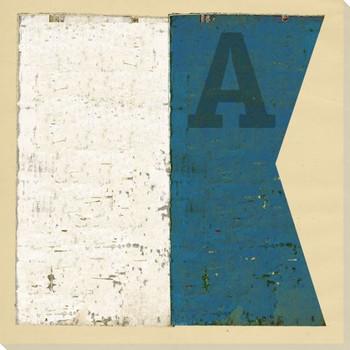 Intl. Maritime Signal Flag A Wrapped Canvas Giclee Print Wall Art