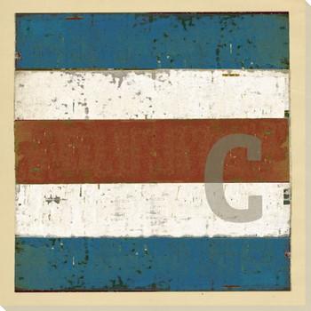 Intl. Maritime Signal Flag C Wrapped Canvas Giclee Print Wall Art