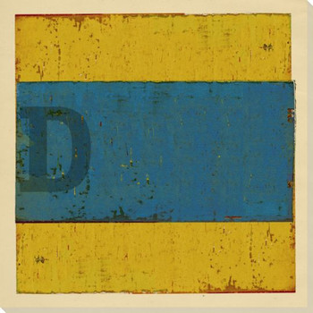 Intl. Maritime Signal Flag D Wrapped Canvas Giclee Print Wall Art