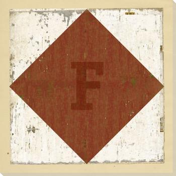 Intl. Maritime Signal Flag F Wrapped Canvas Giclee Print Wall Art