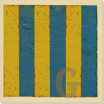 Intl. Maritime Signal Flag G Wrapped Canvas Giclee Print Wall Art