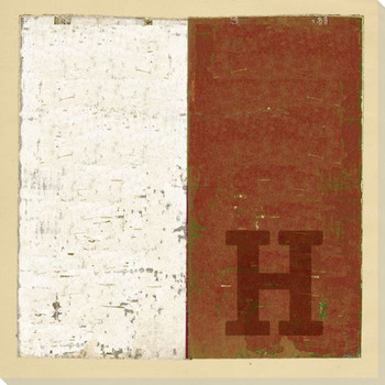 Intl. Maritime Signal Flag H Wrapped Canvas Giclee Print Wall Art