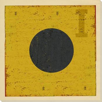 Intl. Maritime Signal Flag I Wrapped Canvas Giclee Print Wall Art