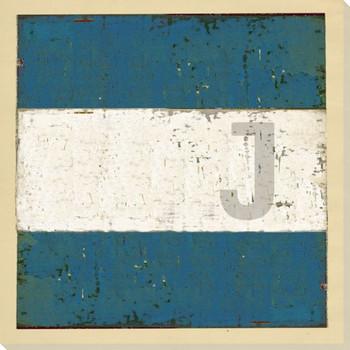 Intl. Maritime Signal Flag J Wrapped Canvas Giclee Print Wall Art