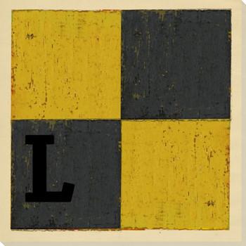 Intl. Maritime Signal Flag L Wrapped Canvas Giclee Print Wall Art
